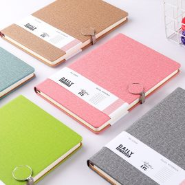 A5 notebook with fabric PU