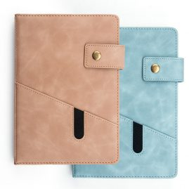 PU planner with pocket